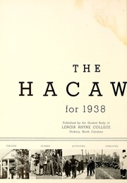 Page 6, 1938 Edition, Lenoir Rhyne College - Hacawa Yearbook (Hickory, NC) online yearbook collection
