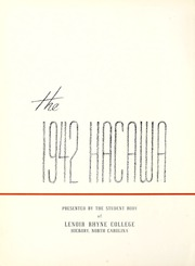 Page 6, 1942 Edition, Lenoir Rhyne College - Hacawa Yearbook (Hickory, NC) online yearbook collection