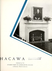 Page 7, 1944 Edition, Lenoir Rhyne College - Hacawa Yearbook (Hickory, NC) online yearbook collection