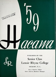 Page 7, 1959 Edition, Lenoir Rhyne College - Hacawa Yearbook (Hickory, NC) online yearbook collection