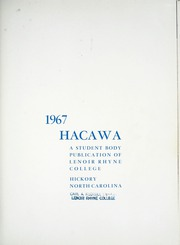Page 5, 1967 Edition, Lenoir Rhyne College - Hacawa Yearbook (Hickory, NC) online yearbook collection