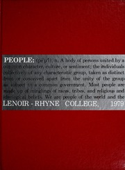 1979 Edition, Lenoir Rhyne College - Hacawa Yearbook (Hickory, NC)