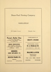 Page 125, 1921 Edition, Memphis State University - DeSoto Yearbook (Memphis, TN) online yearbook collection