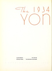 Page 8, 1934 Edition, Centenary College of Louisiana - Yoncopin Yearbook (Shreveport, LA) online yearbook collection