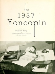 Page 7, 1937 Edition, Centenary College of Louisiana - Yoncopin Yearbook (Shreveport, LA) online yearbook collection