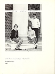 Page 120, 1967 Edition, Centenary College of Louisiana - Yoncopin Yearbook (Shreveport, LA) online yearbook collection