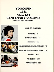 Page 5, 1981 Edition, Centenary College of Louisiana - Yoncopin Yearbook (Shreveport, LA) online yearbook collection
