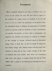 Page 7, 1964 Edition, Lambuth College - Lantern Yearbook (Jackson, TN) online yearbook collection