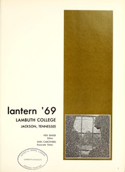 Page 5, 1969 Edition, Lambuth College - Lantern Yearbook (Jackson, TN) online yearbook collection