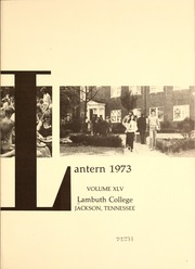 Page 5, 1973 Edition, Lambuth College - Lantern Yearbook (Jackson, TN) online yearbook collection