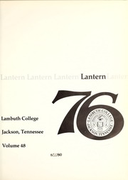 Page 5, 1976 Edition, Lambuth College - Lantern Yearbook (Jackson, TN) online yearbook collection