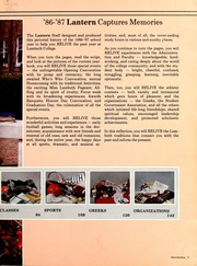 Page 7, 1987 Edition, Lambuth College - Lantern Yearbook (Jackson, TN) online yearbook collection
