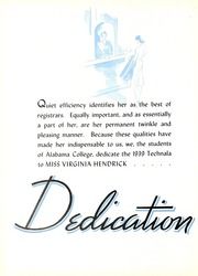 Page 10, 1939 Edition, University of Montevallo - Montage Technala Yearbook (Montevallo, AL) online yearbook collection