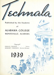 Page 7, 1939 Edition, University of Montevallo - Montage Technala Yearbook (Montevallo, AL) online yearbook collection