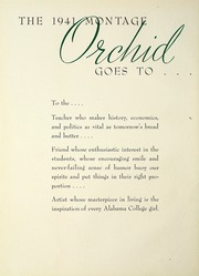 Page 10, 1941 Edition, University of Montevallo - Montage Technala Yearbook (Montevallo, AL) online yearbook collection