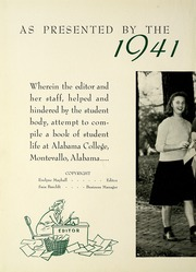 Page 6, 1941 Edition, University of Montevallo - Montage Technala Yearbook (Montevallo, AL) online yearbook collection