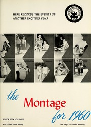 Page 13, 1960 Edition, University of Montevallo - Montage Technala Yearbook (Montevallo, AL) online yearbook collection