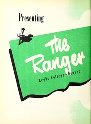 Page 6, 1950 Edition, Regis College - Ranger Yearbook (Denver, CO) online yearbook collection