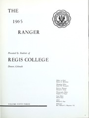 Page 7, 1965 Edition, Regis College - Ranger Yearbook (Denver, CO) online yearbook collection