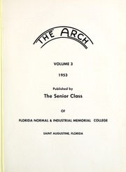 Page 5, 1953 Edition, Florida Memorial College - Arch Yearbook (Miami, FL) online yearbook collection