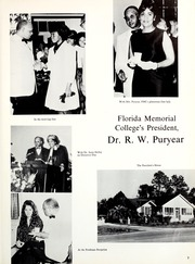 Page 11, 1967 Edition, Florida Memorial College - Arch Yearbook (Miami, FL) online yearbook collection
