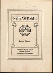 Page 7, 1916 Edition, Salem College - Sights and Insights Yearbook (Winston-Salem, NC) online yearbook collection