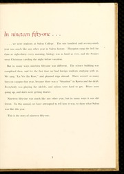 Page 11, 1951 Edition, Salem College - Sights and Insights Yearbook (Winston-Salem, NC) online yearbook collection