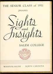 Page 9, 1951 Edition, Salem College - Sights and Insights Yearbook (Winston-Salem, NC) online yearbook collection