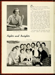 Page 12, 1957 Edition, Salem College - Sights and Insights Yearbook (Winston-Salem, NC) online yearbook collection