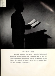 Page 9, 1954 Edition, Lee College - Vindauga Yearbook (Cleveland, TN) online yearbook collection