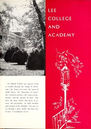 Page 15, 1962 Edition, Lee College - Vindauga Yearbook (Cleveland, TN) online yearbook collection