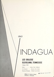 Page 5, 1963 Edition, Lee College - Vindauga Yearbook (Cleveland, TN) online yearbook collection