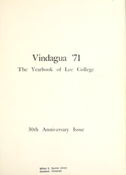 Page 5, 1971 Edition, Lee College - Vindauga Yearbook (Cleveland, TN) online yearbook collection