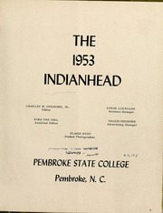 Page 7, 1953 Edition, Pembroke State University - Indianhead Yearbook (Pembroke, NC) online yearbook collection