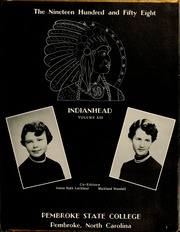 Page 7, 1958 Edition, Pembroke State University - Indianhead Yearbook (Pembroke, NC) online yearbook collection