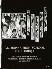Page 5, 1987 Edition, Hanna High School - Tidings Yearbook (Anderson, SC) online yearbook collection