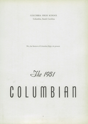 Page 7, 1951 Edition, Columbia High School - Columbian Yearbook (Columbia, SC) online yearbook collection