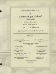 Page 9, 1939 Edition, Chapman High School - Panorama Yearbook (Inman, SC) online yearbook collection