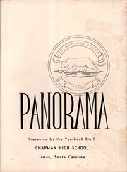 Page 7, 1958 Edition, Chapman High School - Panorama Yearbook (Inman, SC) online yearbook collection