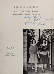 Page 7, 1947 Edition, Greenville High School - Nautilus Yearbook (Greenville, SC) online yearbook collection