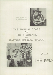 Page 6, 1945 Edition, Spartanburg High School - Spartana Yearbook (Spartanburg, SC) online yearbook collection