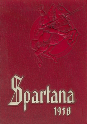 1958 Edition, Spartanburg High School - Spartana Yearbook (Spartanburg, SC)