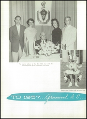 Page 6, 1957 Edition, Greenwood High School - Sapling Yearbook (Greenwood, SC) online yearbook collection
