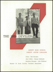 Page 5, 1956 Edition, Liberty High School - Devilier Yearbook (Liberty, SC) online yearbook collection