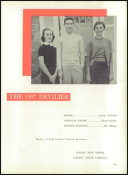 Page 5, 1957 Edition, Liberty High School - Devilier Yearbook (Liberty, SC) online yearbook collection