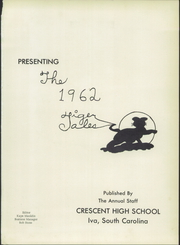 Page 5, 1962 Edition, Crescent High School - Tiger Tales Yearbook (Iva, SC) online yearbook collection