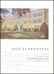 Page 9, 1958 Edition, McClenaghan High School - Florentine Yearbook (Florence, SC) online yearbook collection