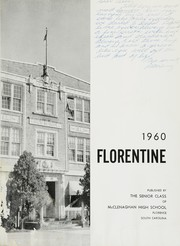 Page 7, 1960 Edition, McClenaghan High School - Florentine Yearbook (Florence, SC) online yearbook collection