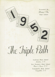 Page 5, 1952 Edition, Landrum High School - Bagpipe Yearbook (Landrum, SC) online yearbook collection