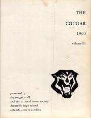 Page 5, 1963 Edition, Dentsville High School - Cougar Yearbook (Columbia, SC) online yearbook collection